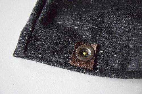 sweatshort-graumeliert-detail